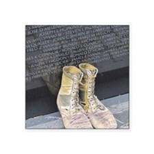 "Boots at Vietnam Veterans M Square Sticker 3"" x 3"""