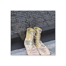"Boots at Vietnam Veterans M Square Sticker 3"" x 3"""