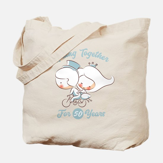 Riding Together 50 Years Tote Bag