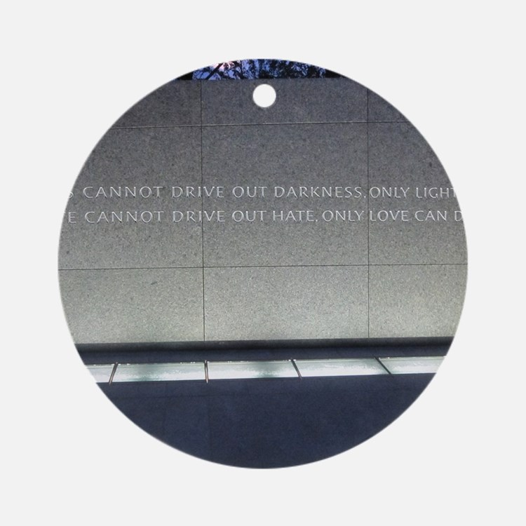 MLK Darkness and Love Round Ornament