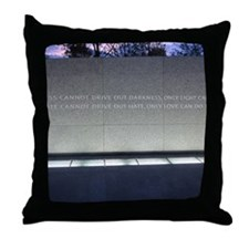 MLK Darkness and Love Throw Pillow