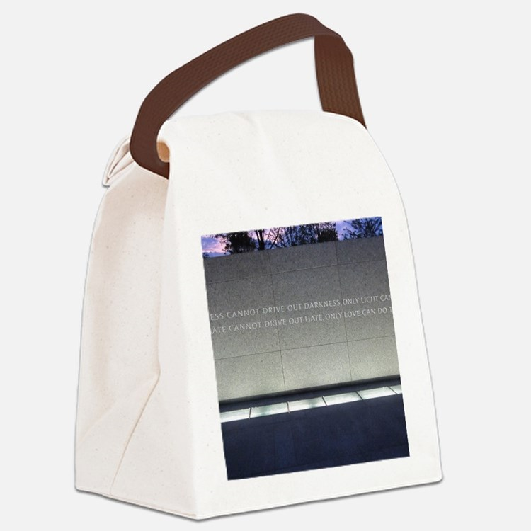 MLK Darkness and Love Canvas Lunch Bag