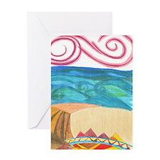 wind ocean sand Greeting Card