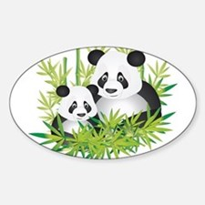 Two Pandas in Bamboo Decal
