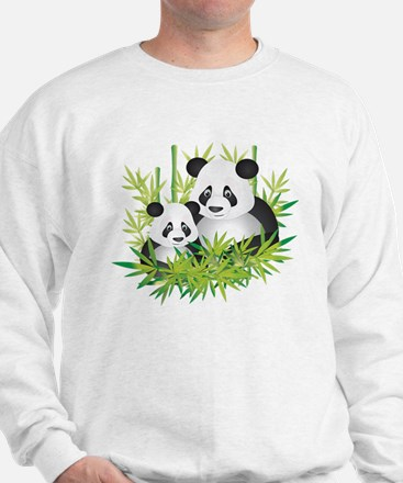 Two Pandas in Bamboo Jumper