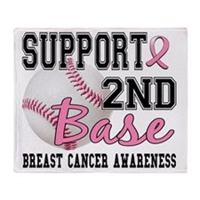 - 2nd Base Breast Cancer Throw Blanket