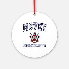 MCVEY University Ornament (Round)