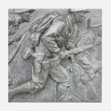 Bronze at WWII Memorial Tile Coaster