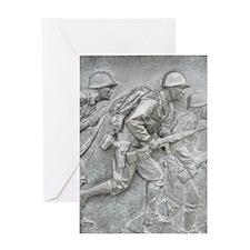 Bronze at WWII Memorial Greeting Card