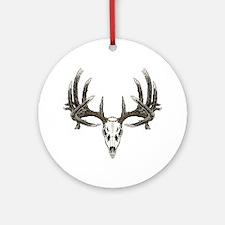 big whitetail 9b base sept 2011cent Round Ornament