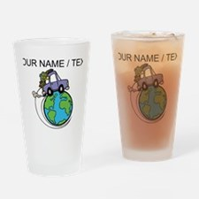 Custom Driving Around The World Drinking Glass
