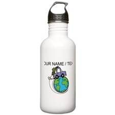 Custom Driving Around The World Water Bottle