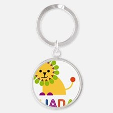 Liliana-the-lion Round Keychain