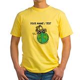Custom travel Mens Yellow T-shirts