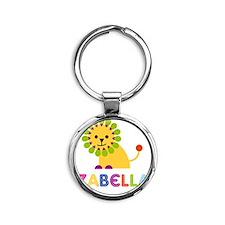 Izabella-the-lion Round Keychain
