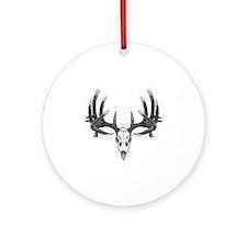 big whitetail 9b sticker sept 2011_ Round Ornament
