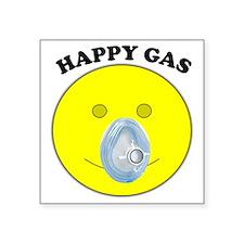 """Happy Gas Square Sticker 3"""" x 3"""""""
