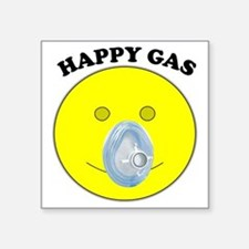 "Happy Gas Square Sticker 3"" x 3"""