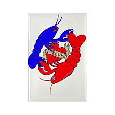 lobster love big.gif Rectangle Magnet