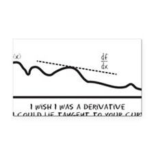 I wish I was a derivative so  Rectangle Car Magnet