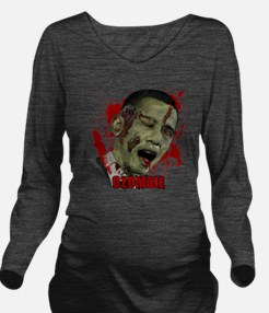 Ozombie black Long Sleeve Maternity T-Shirt