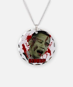 Ozombie black Necklace Circle Charm