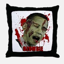 Ozombie black Throw Pillow