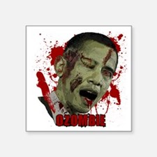 "Ozombie black Square Sticker 3"" x 3"""
