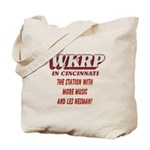 WKRP Large Button Tote Bag