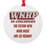 WKRP Large Button Round Ornament