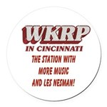 WKRP Large Button Round Car Magnet