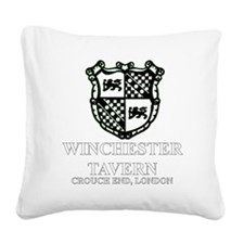 Winchester Crest one color Square Canvas Pillow