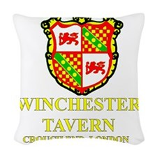 Winchester Crest full color Woven Throw Pillow