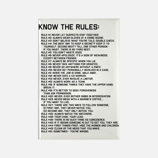 The Rules 02 Rectangle Magnet