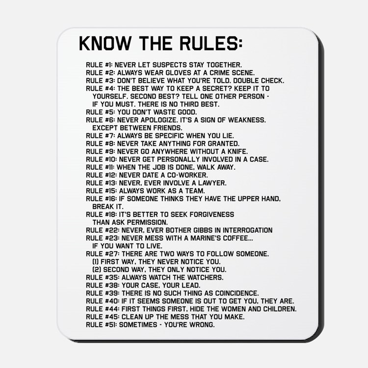 The Rules 02 Mousepad