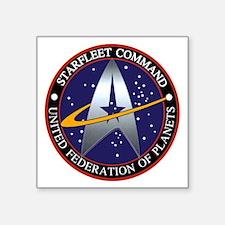 """starfleet command emblem Square Sticker 3"""" x 3"""""""