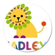 Hadley-the-lion Round Car Magnet