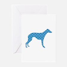 Bone Whippet Greeting Cards (Pk of 10)