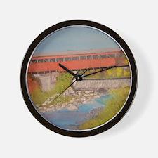 Taftsville Covered Bridge IV Wall Clock