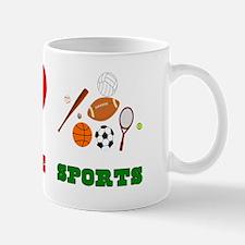 Peace Love Sports Mug