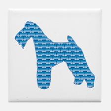 Bone Terrier Tile Coaster