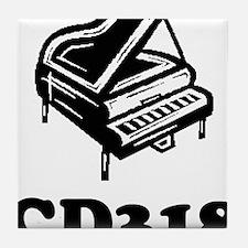 CD318-black Tile Coaster