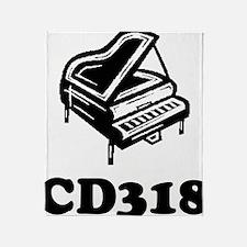 CD318-black Throw Blanket