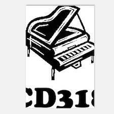 CD318-black Postcards (Package of 8)