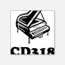 "CD318-black Square Sticker 3"" x 3"""