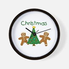 Christmas Gingerbread Men Wall Clock