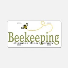 BeeKeeping Aluminum License Plate