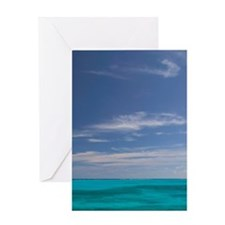 Man O'War Cay: Porch View of the Atl Greeting Card