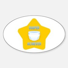 Diaper Achiever Oval Decal