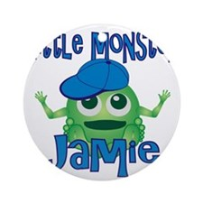 jamie-b-monster Round Ornament
